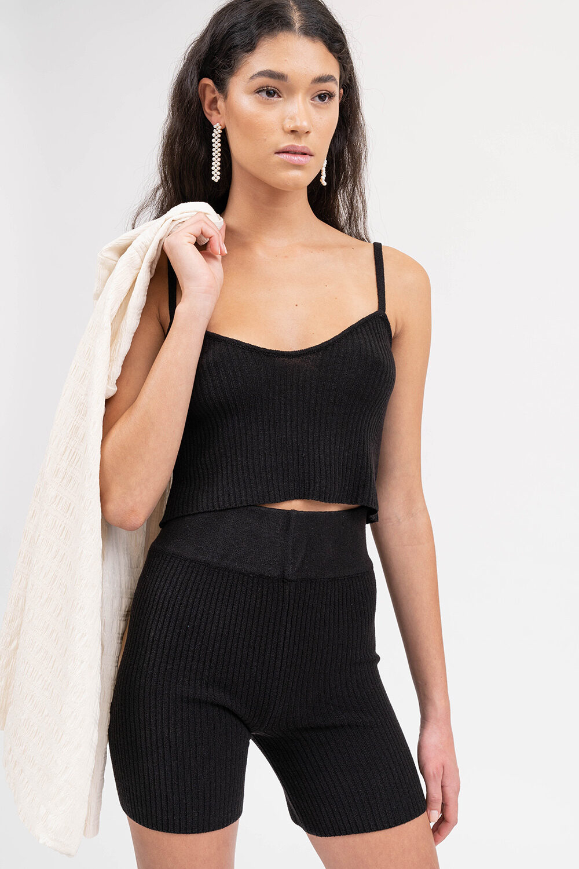 Love Knit Top Black - Sentiment Brand