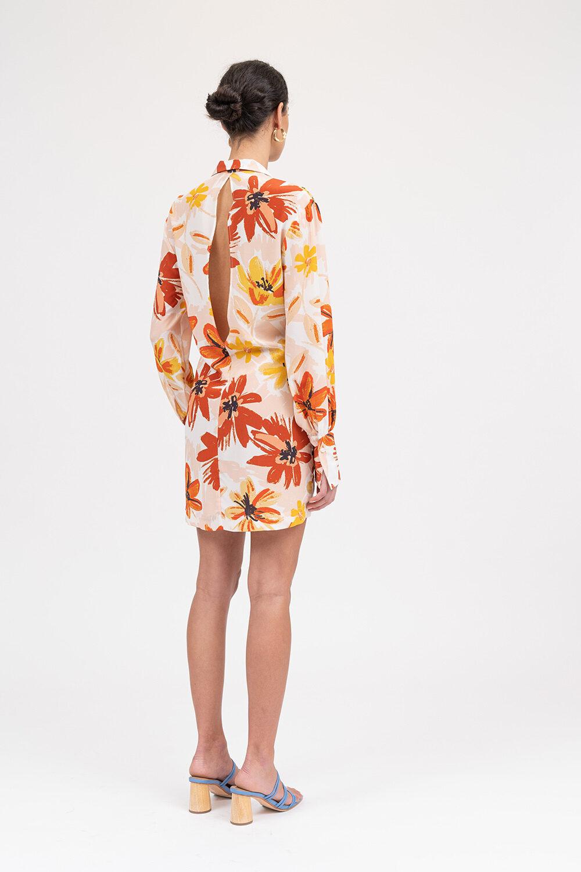 Idealistic Shirt Dress Sunburnt Floral - Sentiment Brand