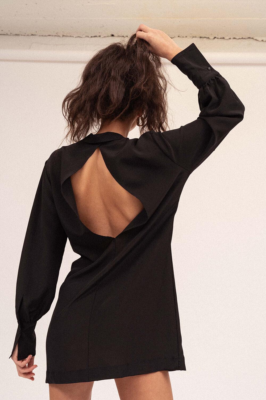 Idealistic Shirt Dress Black - Sentiment Brand
