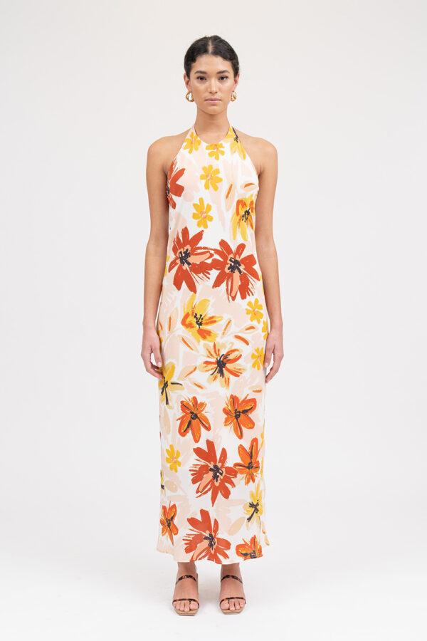 Nostalgia Dress Sunburnt Floral - Sentiment Brand