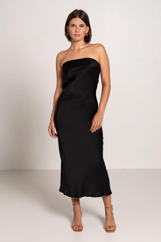 Oasis Tube Dress Black - Sentiment Brand