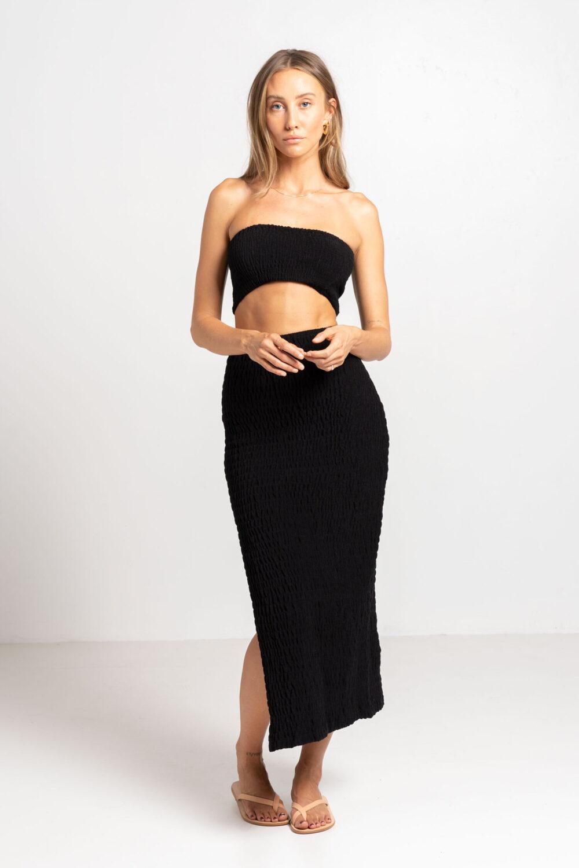 Sahara Tube Skirt Black - Sentiment Brand