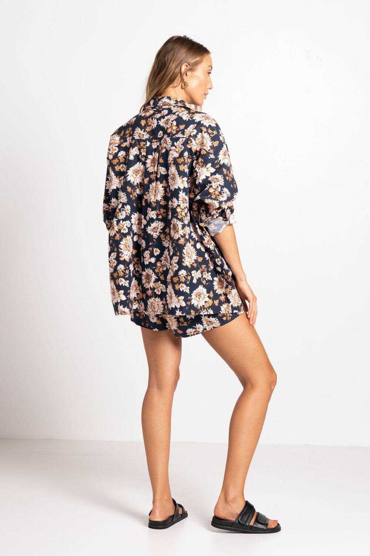Desert Shorts Caramel Floral - Sentiment Brand