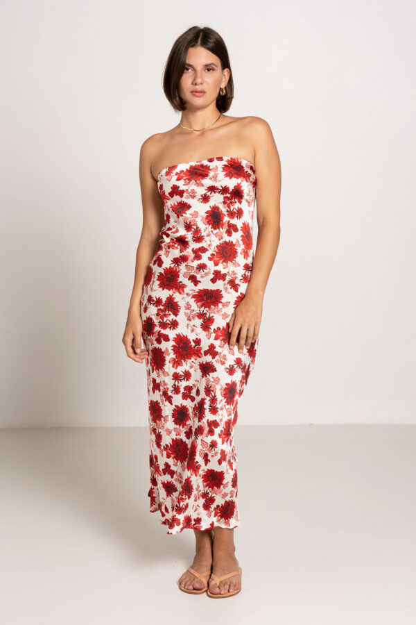 Oasis Tube Dress Ruby Floral - Sentiment Brand