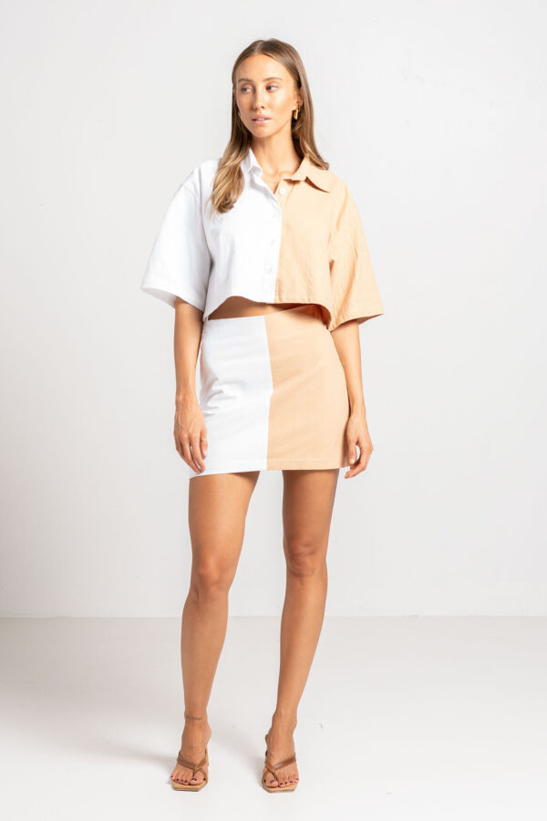 Pool Mini Skirt Two Tone - Sentiment Brand